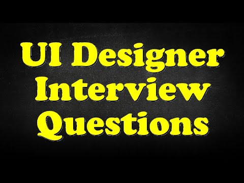 UI Designer Interview Questions