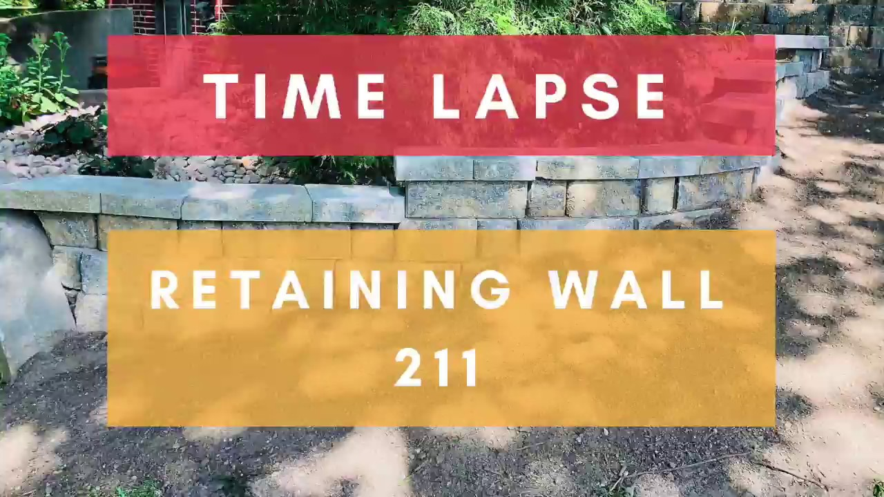 A Day In The Life of building a Retaining wall 211 - YouTube