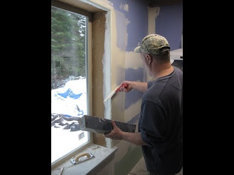 House Building Part 19: Installing Drywall & Crafting Corian Window Sill