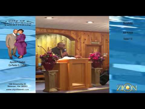 The City of Zion Deliverance Tabernacle Church Service 2015 Clip 1