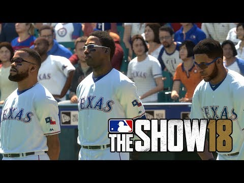 MLB 18 The Show Houston Astros vs Texas Rangers (MLB The Show 18  Gameplay)
