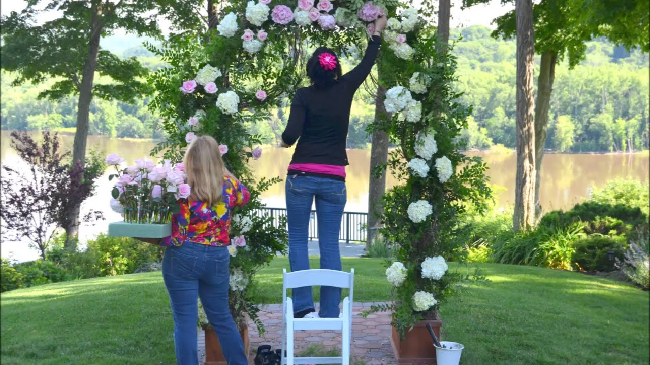 Designing A Wedding Arch With Flowers Youtube