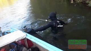 На лодке Казанка по мелким рекам.Подводная охота