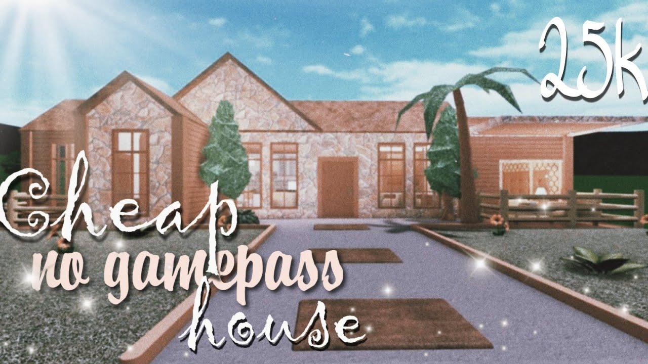 ROBLOX BLOXBURG: Cheap No Gamepass House ♡ 25k YouTube