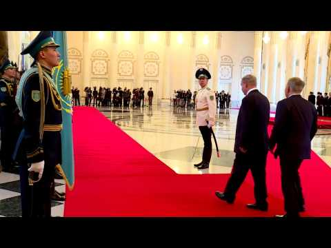 PM Netanyahu Arrives at the Presidential Palace in Astana
