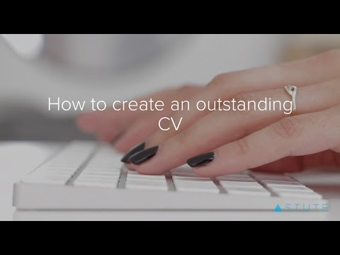 How to create an outstanding CV