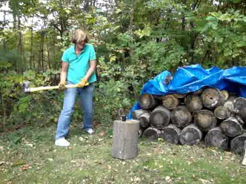 Margery Rothenberg Chopping Wood