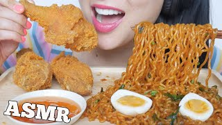 ASMR McDonalds FRIED CHICKEN + SPICY NOODLES + EGGS (EATING SOUNDS) NO TALKING | SAS-ASMR