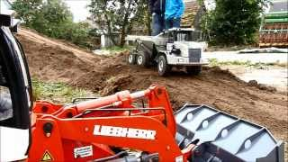 Road construction with the Liebherr Crawler Loader LR 634  ----   Part 2