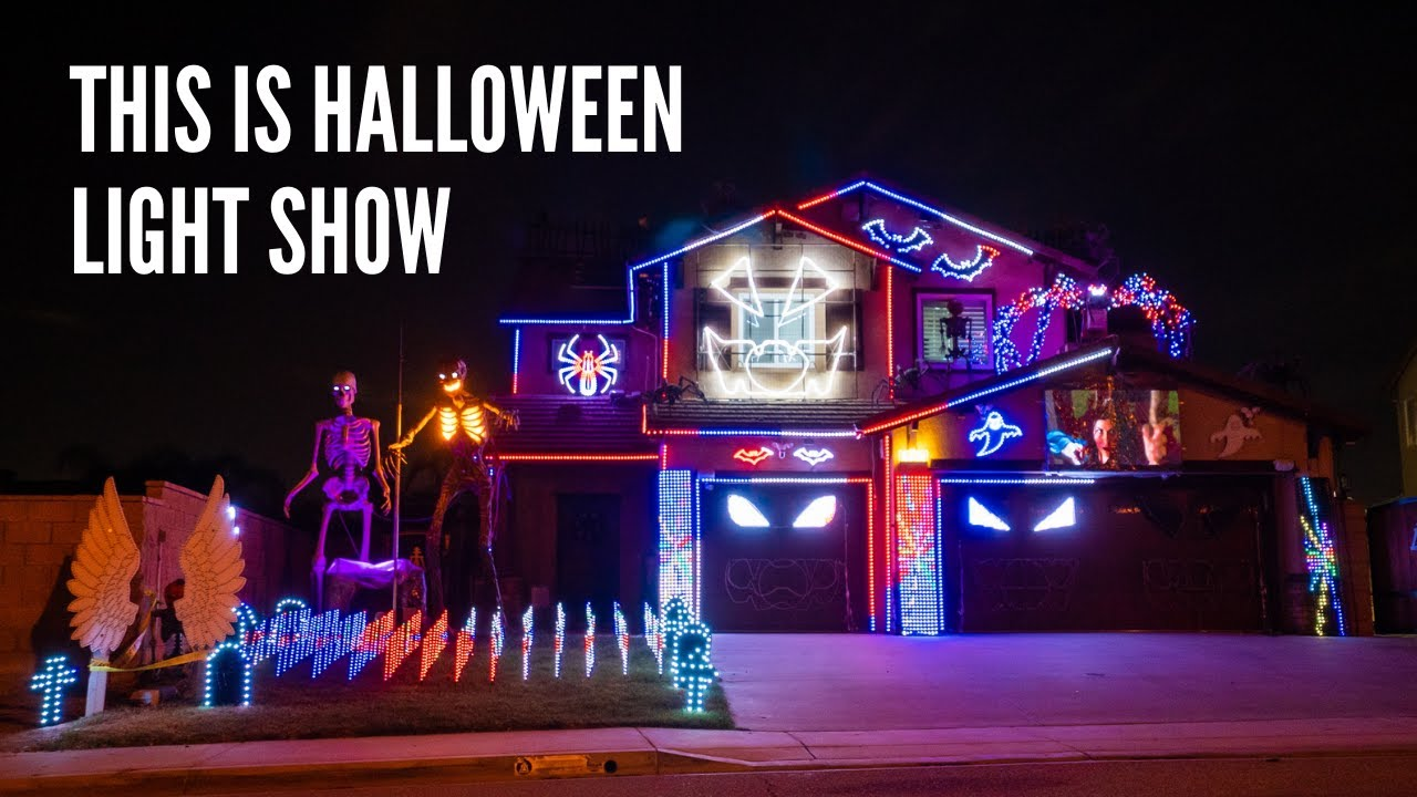 This is Halloween - Halloween Light Show House 2021 Riverside, CA