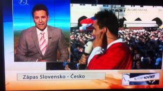 MS v Hokeji, Česko - Slovensko 1:3. Českí vs Slovenskí novinári :-) No Slovákom to teda vyšlo