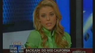 Miss California Carrie PreJean on Fox News