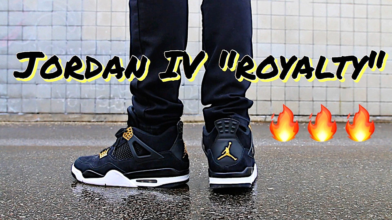 abf8fe7c0feffd ... store air jordan retro iv 4 royalty on feet outfit youtube 28858 1acb4