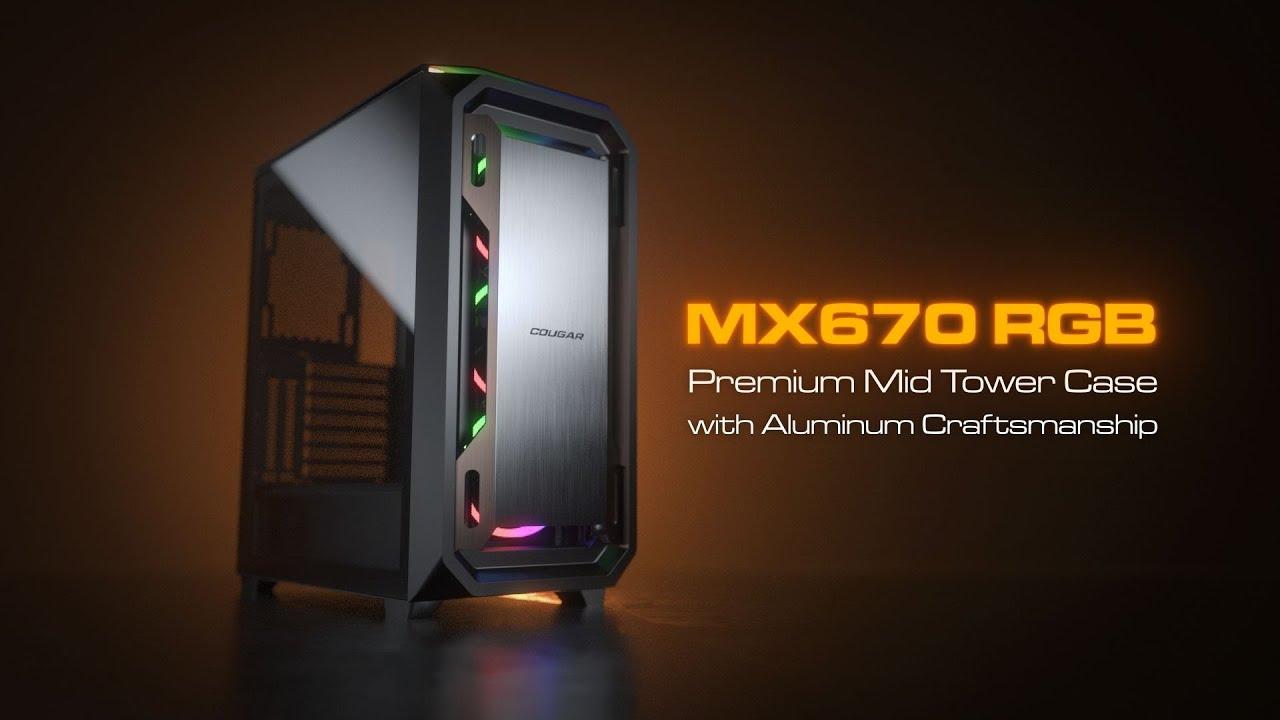 MX670 RGB - Premium Mid Tower Case with Brushed Aluminum Craftsmanship