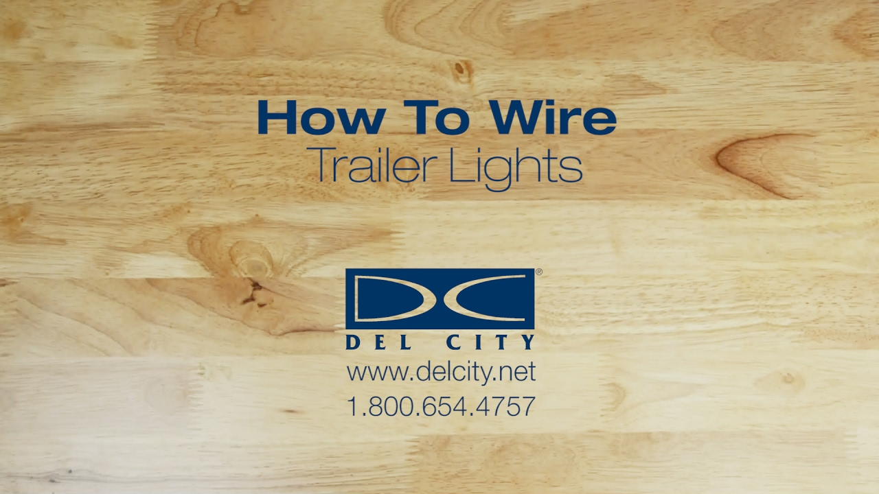 How To Wire Trailer Lights Youtube 4 Connector Diagram Brake Lamp