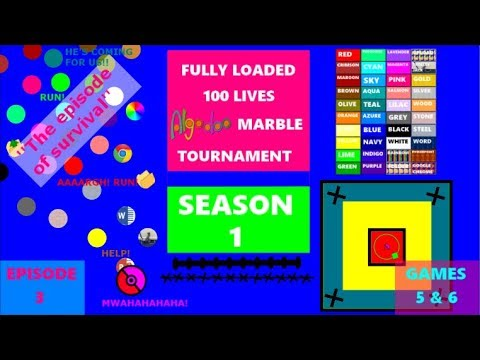 Download Fully Loaded 100 Lives Algodoo Marble Tournament Season 1 - Episode 3