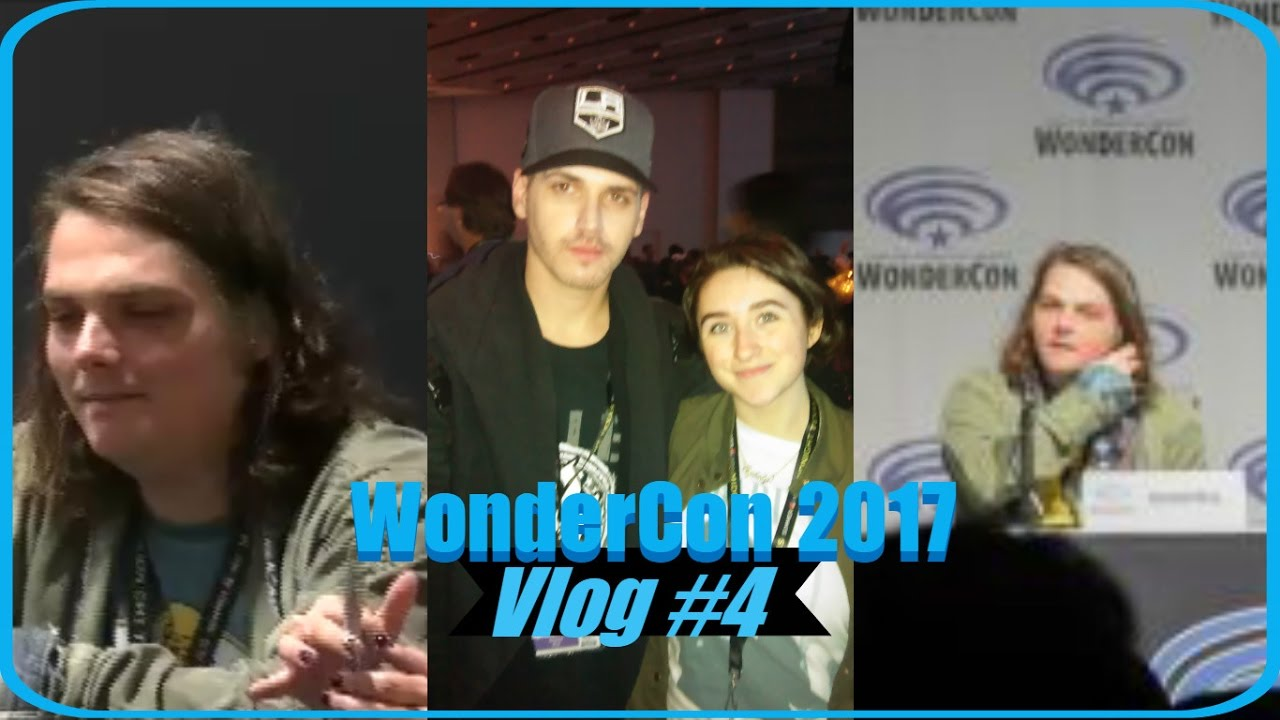 Seeing Gerard and Mikey Way at WonderCon 2017 Vlog #4 ...