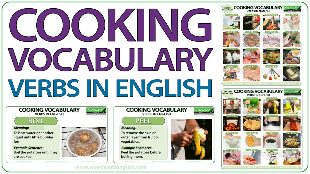 Cooking Instructions Vocabulary - Words in English