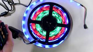 BRIGHTEST LED Strip Lights Sync to Music 5M/16.54ft Waterproof  with RF Remote REVIEW