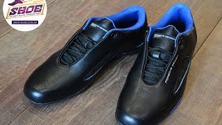Мужские кроссовки Adidas Porsche Design Drive Athletic II Leather Black Blue Trainers