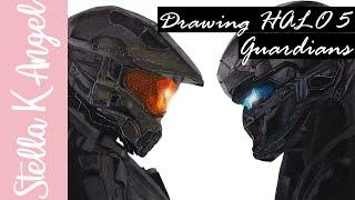 Drawing HALO 5 : Guardians