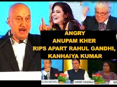 Angry Anupam Kher rips apart Rahul Gandhi, Kanhaiya Kumar at The Telegraph Debate | FULL SPEECH