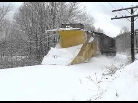Thumbnail: Chasing a Norfolk Southern Snow Plow on the Southern Tier 1-4-2003