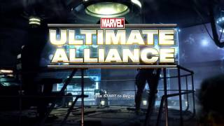 Marvel Ultimate Alliance Title Screen (Xbox 360, Wii, PS2, Xbox, PS3, PC)