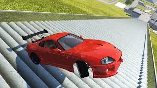 TOYOTA SUPRA DE DRIFT DESCENDO AS ESCADAS DE LADO! BeamNG.Drive