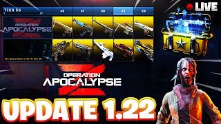 NEW OPERATION APOCALYPSE Z PT.2/ ALL 60 TIERS + ALL NEW DLC WEAPONS UNLOCKED! (COD BO4 UPDATE 1.22)