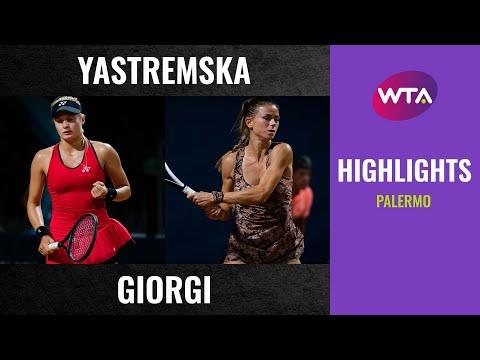 D.Yastremska vs C.Giorgi - Palermo QF