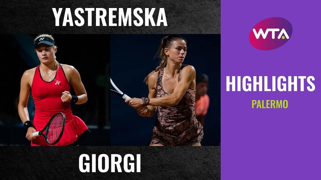 Download Dayana Yastremska vs. Camila Giorgi   2020 Palermo Quarterfinal   WTA Highlights