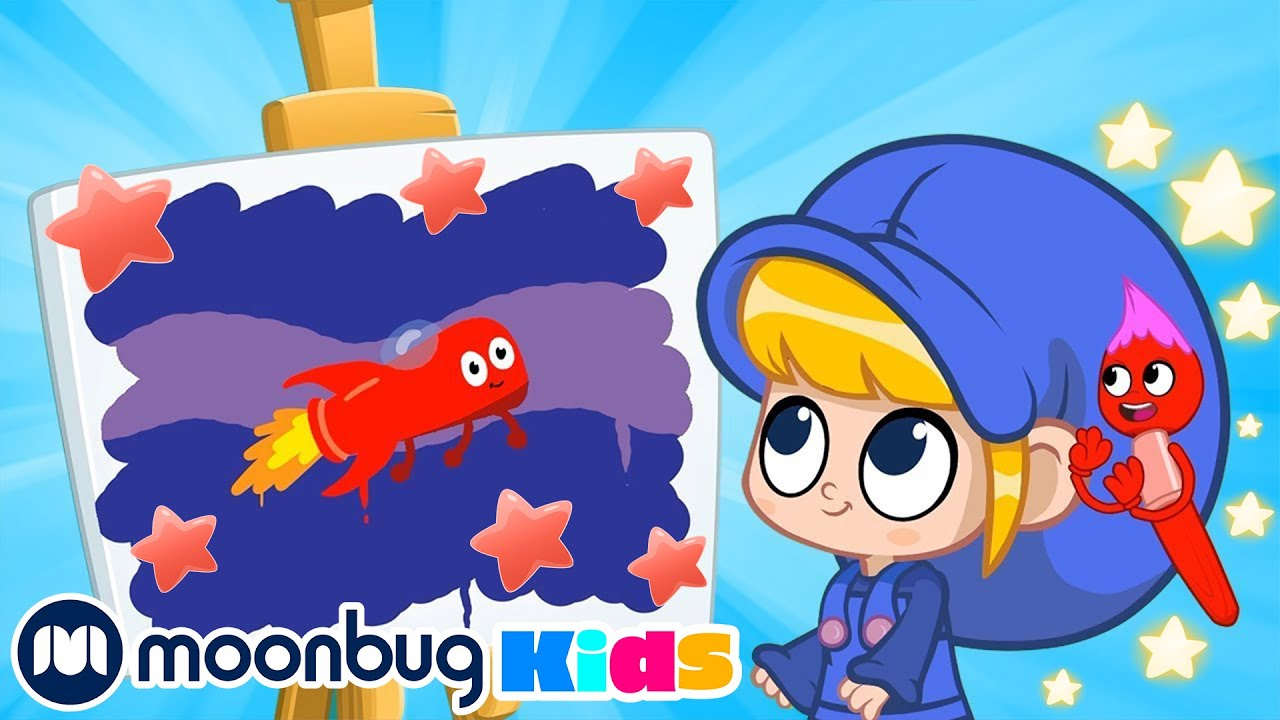 The Paint Game - Morphle TV | My Magic Pet Morphle | Cartoons For Kids | Moonbug Kids