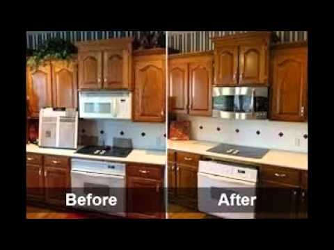How To Refinish Kitchen Cabinets - YouTube