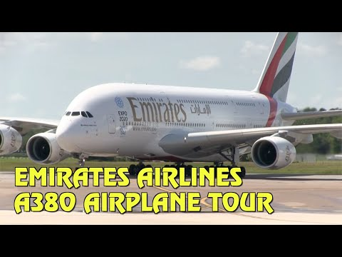 Emirates Airlines lands in Orlando - tour the A380 airplane