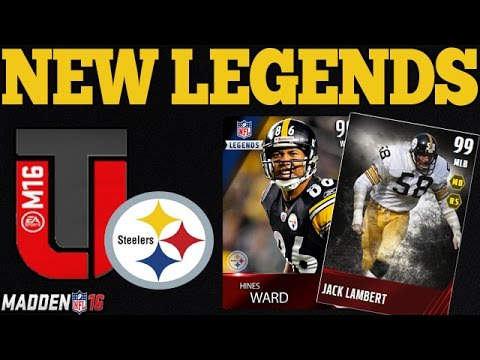 NEW MUT 16 LEGENDS   STEELERS FT. HINES WARD   MADDEN 16 ULTIMATE TEAM
