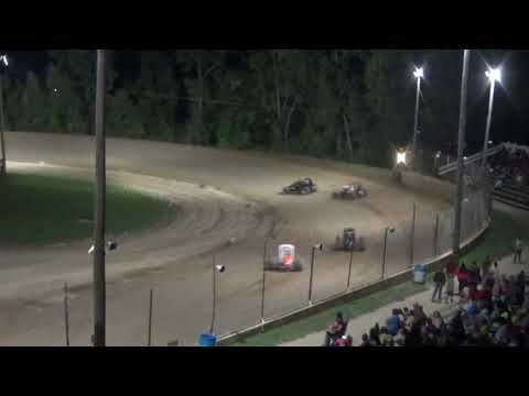 Traditional Sprints B-Feature Race at Crystal Motor Speedway on 09-15-2018!
