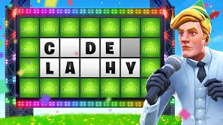Fortnite Wheel Of Fortune!