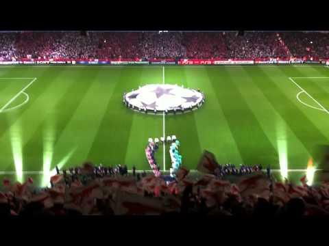 Champions League Anthem Arsenal vs Barcelona 16th February 2011