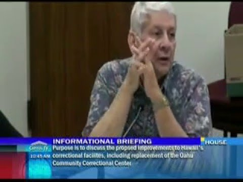 Senator Slom questions issues with Oahu Community Correctional Center