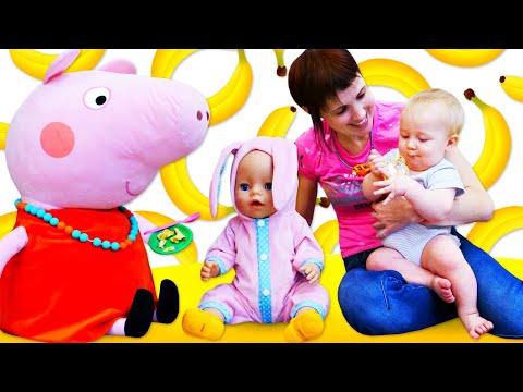 Еда и Книги для малышей. Карл и Беби Бон в видео Мамина школа.