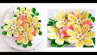 Quilling Flower Decoration Series // Quilling Flower 10 Learning Video
