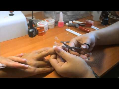 Наращивание ногтей гелем видео уроки для начинающих