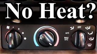 How to Fix a Car with No Heat (Easy)(No heat in your car? Car not blowing hot air? This video will show you how to fix your car's heater whether it is your heater core, heater control valve, blend door, ..., 2014-11-22T00:16:26.000Z)