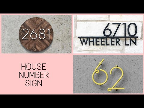 Most Creative House Number Sign