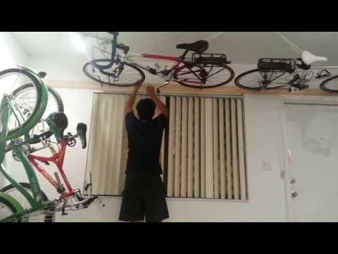 ceiling hydro pneumatic bike rack