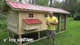 This video is about how important it is to have the right size henhouse for the number of chickens you want. We build big beautiful