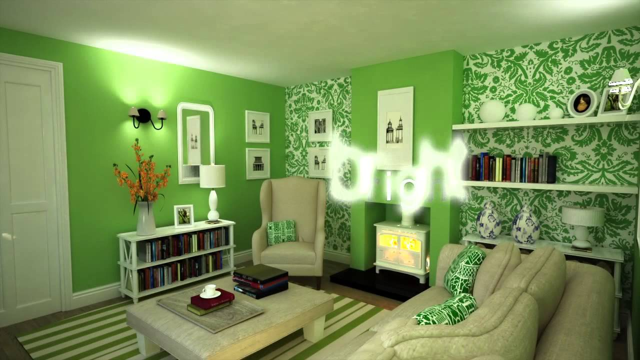 Colour schemes decorating with green youtube for Decorating with dark colours
