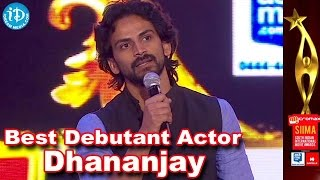 SIIMA 2014 Best Debutant Actor Award | Dhananjay | Director's Special Movie