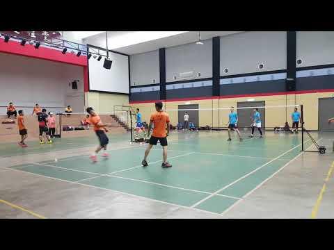 Badminton Friendly Match Eajoy & Darul Vs FBT KERAMAT (first Game)
